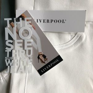 NWT LIVERPOOL ANKLE WHITE SKINNY JEANS
